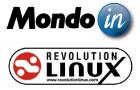 Logos de Mondo-In et Révolution Linux