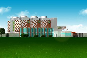Représentation graphique du projet de Vert.com au Technoparc Montréal (Groupe CNW/Vert.com)