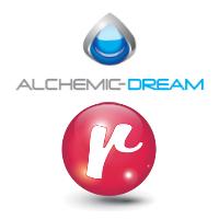 Logos d'Alchemic Dream et REZO l'agence sociale