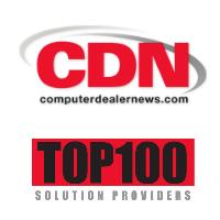 Logos de Computer Dealer News et du Top 100 des fournisseurs de solutions