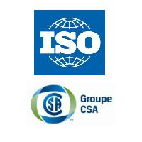 Logos de ISO et Groupe CSA