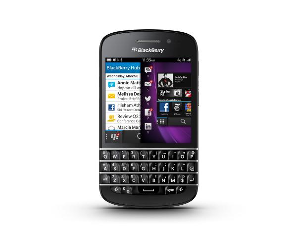 Le BlackBerry Q10 à l'essai (2/2): Un brin de nostalgie