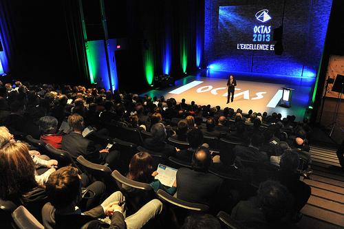 Photo d'ambiance de la cérémonie de nomination des finalistes des OCTAS 2013