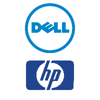 Logos de Dell et HP
