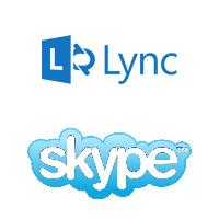 Logos de Lync et Skype de Microsoft