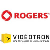 Logos de Rogers et Vidéotron