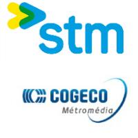 Logos de STM et Cogeco Métromédia