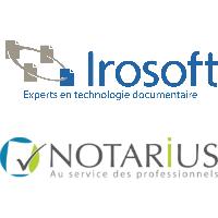 Logos d'Irosoft et Notarius