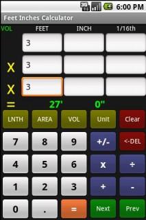Feet Inch Calculator
