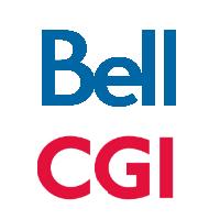 Logos de Bell Canada et Groupe CGI