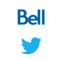 Logos de Bell et Twitter