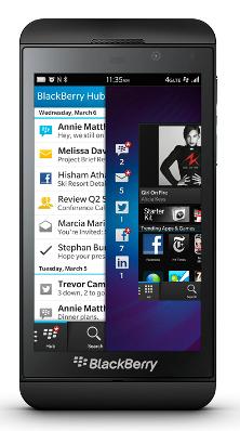 Téléphone Z10 de BlackBerry