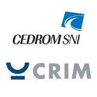 Logos de CEDROM-SNi et du CRIM