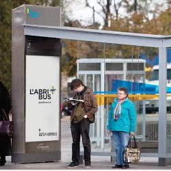 Abribus de Québecor Média d'affichage
