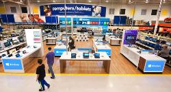 Concept de magasin Microsoft dans un établissement de Best Buy