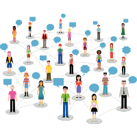 Illustration du concept des médias sociaux