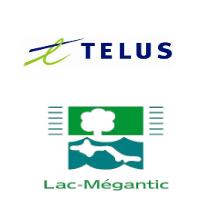 Logos de TELUS et Lac-Mégantic