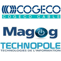 Logos de Cogeca câble et Magog Technopole