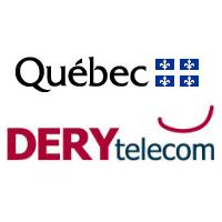 Logos du Gouv. du Qc et de DERYtelecom