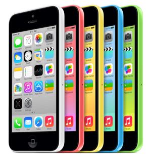 Le modèle de téléphone intelligent iPhone 5C d'Apple