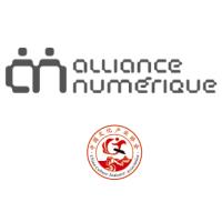 Logos d'Alliance numérique et de la Chinese Cultural Industry Association