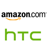 Logos d'Amazon et de HTC