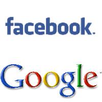 Logos de Facebook et de Google