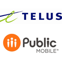 Logos de TELUS et de Public Mobile