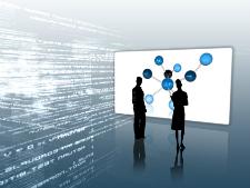 Illustration du concept de l'information dans l'organisation