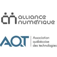 Logos de l'Alliance numérique et de l'Association québécoise des technologies