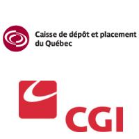 Logos de la Caisse de dépôt et placemen du Québec et Groupe CGI