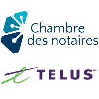 Logos de la Chambre des notaires du Québec et de TELUS