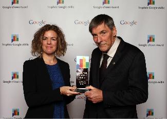 Trophée eVIlle 2013 de Google remis à Saint-Sauveur