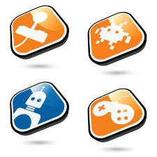 Illustration du concept d'industrie du jeu vidéo
