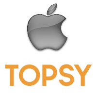 Logos d'Apple et de Topsy