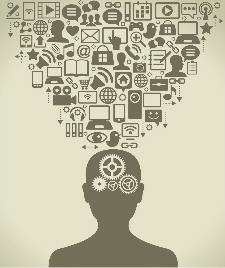 Illustration du concept de blogue