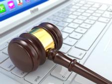 Illustration du concept de droit et des technologies de l'information (TI)