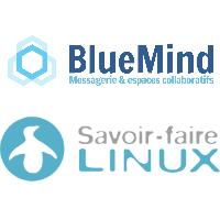 Logos de BlueMind et Savoir-faire Linux