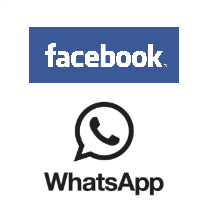 Logos de Facebook et WhatsApp