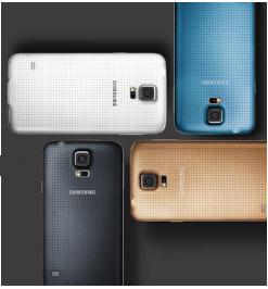 Le téléphone Galaxy S5, de Samsung