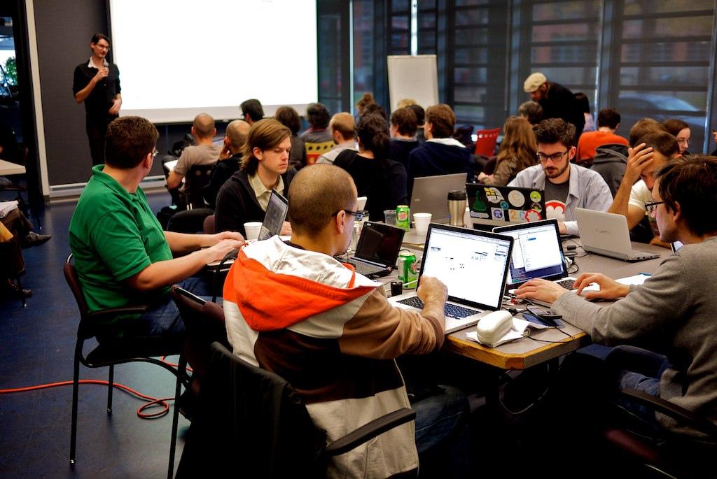 Hackathon Montréal Ouvert (Crédit photo : Dr Papillon and Hoedic)