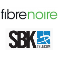 Logos de Fibrenoire et SBK Télécom