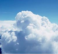 Illustration du concept de l'infonuagique, de l'informatique en nuage