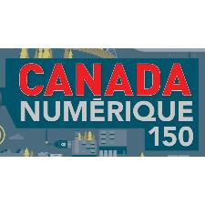 Illustration-logo de la stratégie «Canada numérique 150 » du gouvernement du Canada.