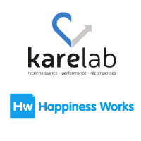 Logos de Karelab et Happiness Works