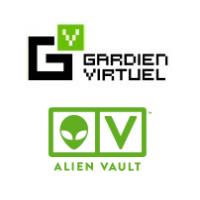 Logos de Gardien Virtuel et AlienVault