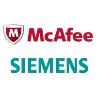 Logos de McAfee et Siemens