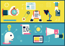 Illustration du concept de stratégie de contenu