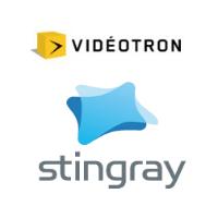 Logos de Vidéotron et Stingray