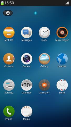Capture d'écran du système d'exploitation Tizen